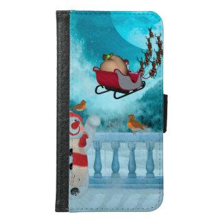 Christmas design, Santa Claus Samsung Galaxy S6 Wallet Case