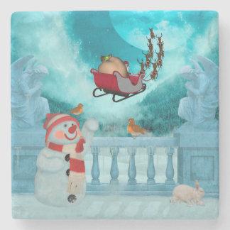 Christmas design, Santa Claus Stone Coaster