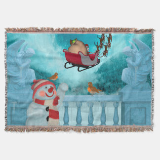 Christmas design, Santa Claus Throw Blanket