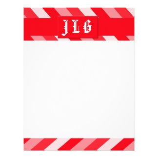 Christmas Diagonal Stripes Letterhead