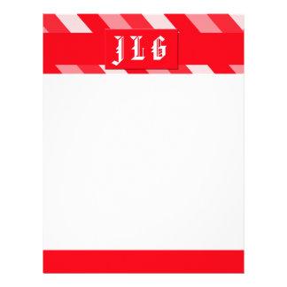 Christmas Diagonal Stripes Custom Letterhead