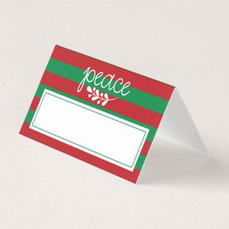 Christmas Dinner Place Card | Peace