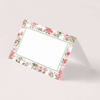 Christmas Dinner Place Card | Snowflakes