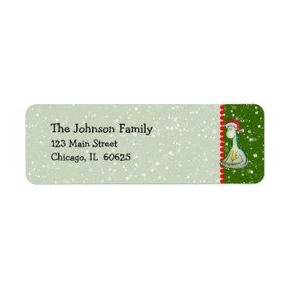 Christmas Dinosaur Custom Return Address Label