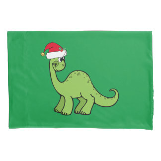 Christmas Dinosaur Pillowcase