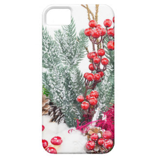 Christmas dish with berries mushrooms decoration case for the iPhone 5