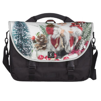 Christmas dish with santa Claus and decoration Bag For Laptop