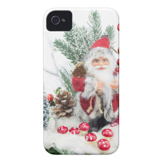 Christmas dish with santa Claus and decoration iPhone 4 Cases