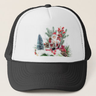 Christmas dish with santa Claus and decoration Trucker Hat