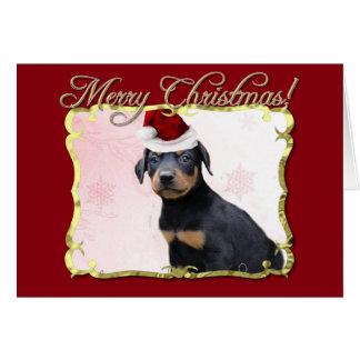 Christmas Doberman Pinscher dog Card