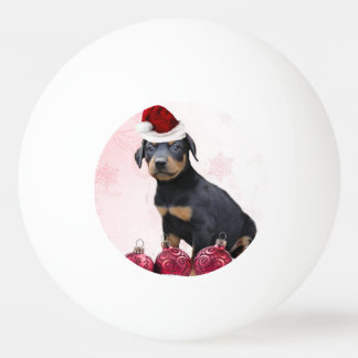 Christmas Doberman Pinscher dog Ping Pong Ball