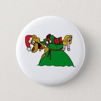 Christmas Dog 2 Inch Round Button