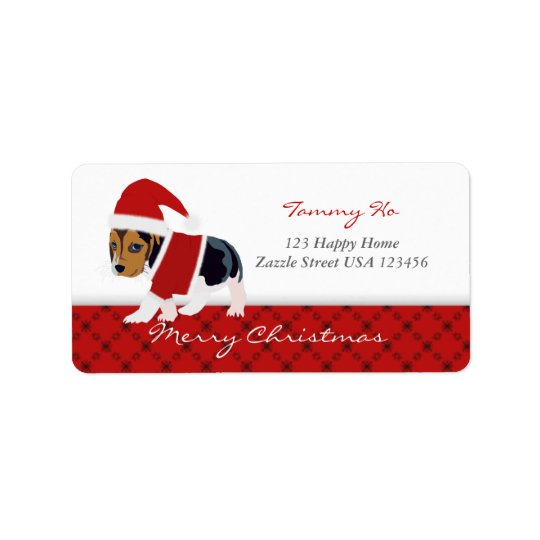 Christmas Dog Baby Shower Address Label