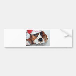 Christmas Dog Cards cocker spaniel Bumper Sticker