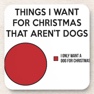 Christmas Dog Coaster