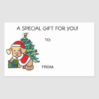 Christmas Dog Gift Tags Self Adhesive