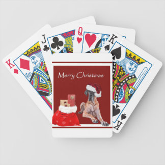 Christmas Dog Great Dane Bicycle Playing Cards