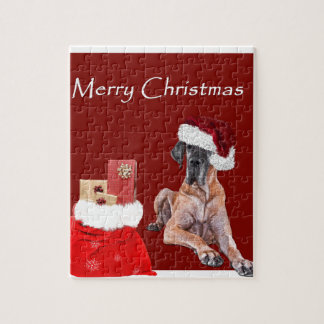 Christmas Dog Great Dane Jigsaw Puzzle