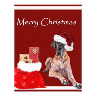 Christmas Dog Great Dane Letterhead