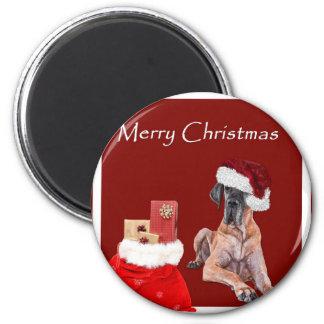 Christmas Dog Great Dane Magnet