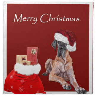 Christmas Dog Great Dane Napkin