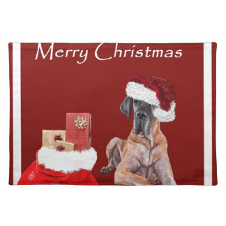 Christmas Dog Great Dane Placemat