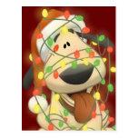 Christmas Dog Postcard