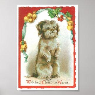 Christmas Dog Posters