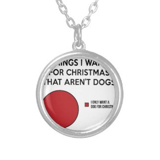 Christmas Dog Silver Plated Necklace