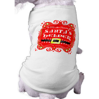 Christmas Dog Tshirt - Santa's Helper Design