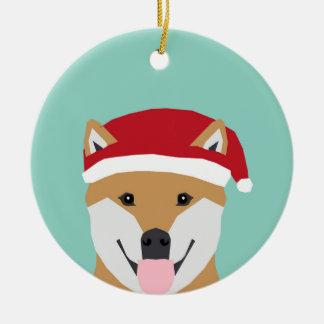 Christmas Doge Ornament - shiba inu christmas dog
