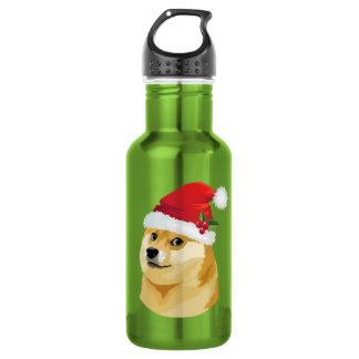 Christmas doge - santa doge - christmas dog 532 ml water bottle