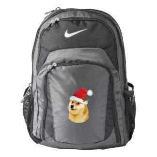 Christmas doge - santa doge - christmas dog backpack