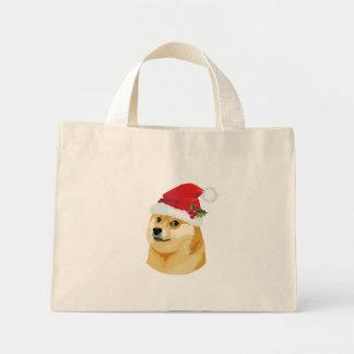 Christmas doge - santa doge - christmas dog mini tote bag