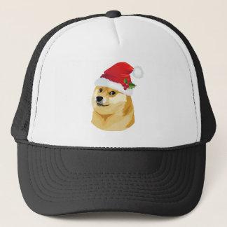 Christmas doge - santa doge - christmas dog trucker hat