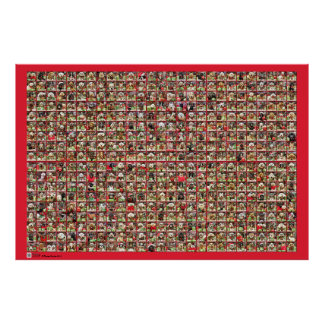 Christmas Dogs Portrait Collection Poster