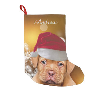 Christmas Dogue de Bordeaux Dog stocking