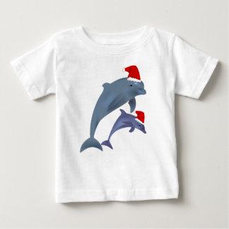 Christmas Dolphin Baby T-Shirt