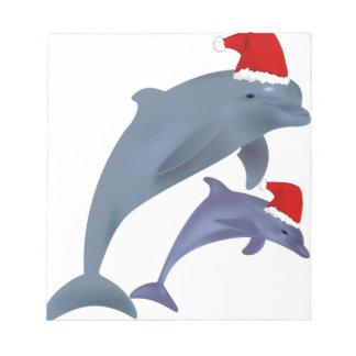 Christmas Dolphin Notepad