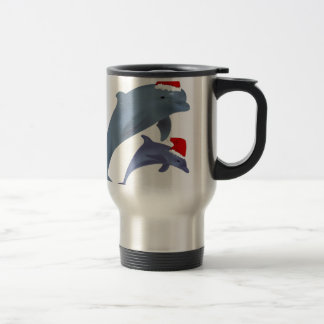 Christmas Dolphin Travel Mug