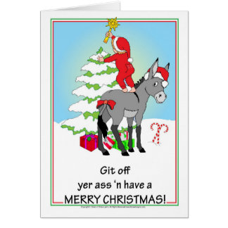 Christmas Donkey Card