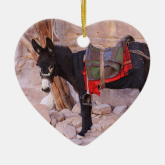 Christmas Donkey Ceramic Ornament