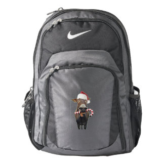 Christmas donkey - santa donkey - donkey santa backpack