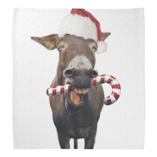 Christmas donkey - santa donkey - donkey santa bandana