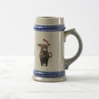 Christmas donkey - santa donkey - donkey santa beer stein