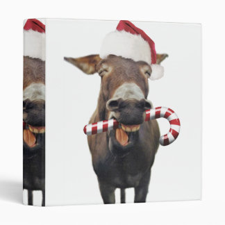 Christmas donkey - santa donkey - donkey santa binder