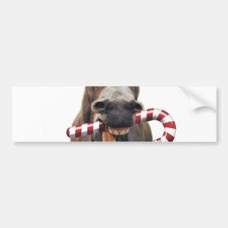 Christmas donkey - santa donkey - donkey santa bumper sticker