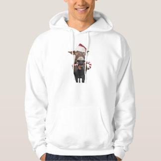 Christmas donkey - santa donkey - donkey santa hoodie