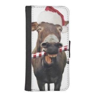 Christmas donkey - santa donkey - donkey santa iPhone SE/5/5s wallet case