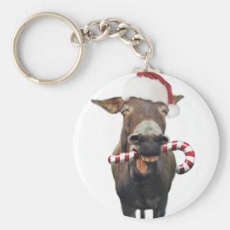 Christmas donkey - santa donkey - donkey santa keychain